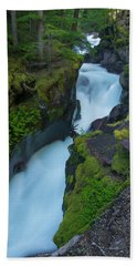 Beach Towel featuring the photograph Avalanche Gorge 6 by Gary Lengyel