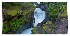 Beach Towel featuring the photograph Avalanche Gorge 7 by Gary Lengyel