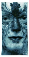 Beach Towel featuring the painting Avatar Portrait by Odon Czintos
