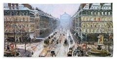 Avenue De L'opera - Effect Of Snow Beach Towel