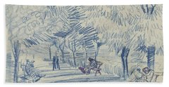 Beach Towel featuring the painting Avenue In A Park Arles, May 1888 Vincent Van Gogh 1853 - 1890 by Artistic Panda
