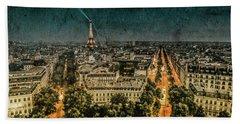 Paris, France - Avenue Kleber Beach Towel