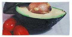 Avocado And Cherry Tomatoes Beach Towel