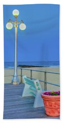 Avon Boardwalk At Twilight Beach Towel