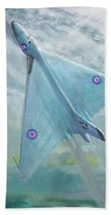 Avro Vulcan B1 Night Flight Beach Sheet by Vincent Alexander Booth