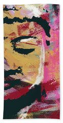 Awakened Buddha 3- Art By Linda Woods Beach Towel