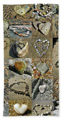 Awesome Hearts Found In Nature - Valentine S Day Beach Towel