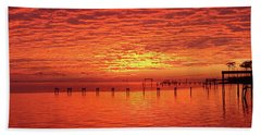 Awesome Santa Rosa Sunset Colors Panoramic Beach Towel