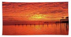 Awesome Santa Rosa Sunset Colors Panoramic Beach Sheet