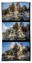 Awestruck Triptych Beach Sheet
