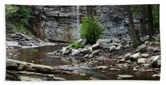 Awosting Falls In Spring #1 Beach Towel