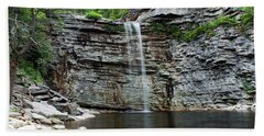 Awosting Falls In Spring #2 Beach Sheet by Jeff Severson
