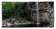 Awosting Falls In Spring #3 Beach Sheet by Jeff Severson
