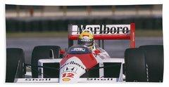 Ayrton Senna. 1988 Mexican Grand Prix Beach Sheet