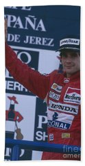 Ayrton Senna. 1989 Spanish Grand Prix Winner Beach Towel
