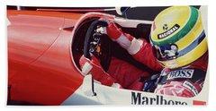 Ayrton Senna. 1993 Spanish Grand Prix Beach Sheet