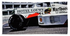 Ayrton Senna - Montecarlo Beach Towel