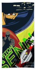 Ayrton Senna Beach Towel by Sassan Filsoof