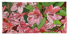 Azalea Bunch Beach Towel