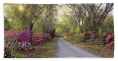 Azalea Lane By H H Photography Of Florida Beach Towel