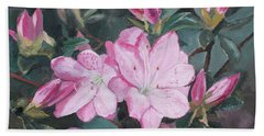 Beach Towel featuring the painting Azalea by Rachel Hames