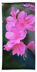 Azalea Spray Beach Sheet by Ginny Schmidt