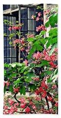 Azaleas At The Window   Beach Towel by Sarah Loft