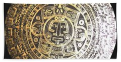 Aztec Calendar Beach Sheet