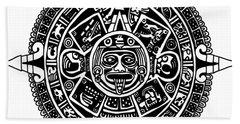 Aztecs Calendar Beach Towel