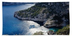 Azure Calanques Beach Towel