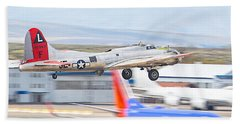 Beach Towel featuring the photograph B-17 Bomber by Dart and Suze Humeston
