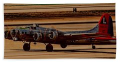 Beach Towel featuring the photograph B-17 Bomber by Dart Humeston