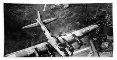 B-17 Bomber Over Germany  Beach Sheet