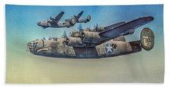 B-24 Liberator Bomber Beach Towel