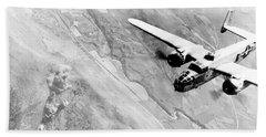 B-25 Bomber Over Germany Beach Sheet by War Is Hell Store