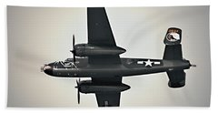 B-25 Fly By Beach Towel