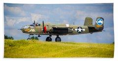 B-25 Landing Original Beach Towel