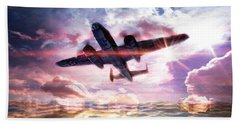 Airplanes Beach Towel featuring the digital art B-25b Usaaf by Aaron Berg