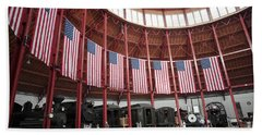 B And O Museum Roundhouse In Baltimore Maryland Beach Towel