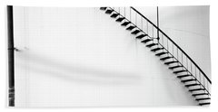 B And W Stairs Beach Sheet