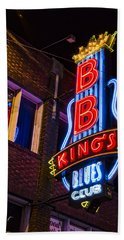 B B Kings On Beale Street Beach Sheet by Stephen Stookey