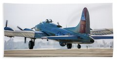 B17 Flying Fortress Cleared For Takeoff At Livermore Beach Towel