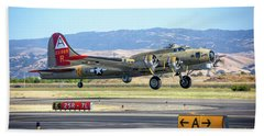 B17 Flying Fortress Takeoff At Livermore Beach Towel