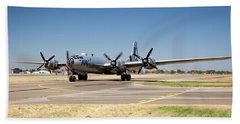 B29 Fifi Taxis At Modesto Kmod Beach Towel