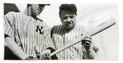 Babe Ruth And Lou Gehrig Beach Towel