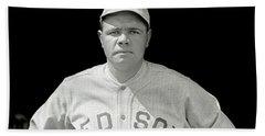 Babe Ruth Red Sox Beach Towel