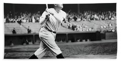 Babe Ruth Swing 62717 Beach Towel