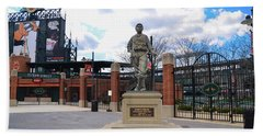 Beach Towel featuring the photograph Babes Dream - Camden Yards Baltimore by Bill Cannon