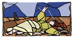 Babie Lato Stained Glass Version Beach Towel