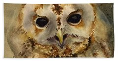 Baby Barred Owl Beach Sheet
